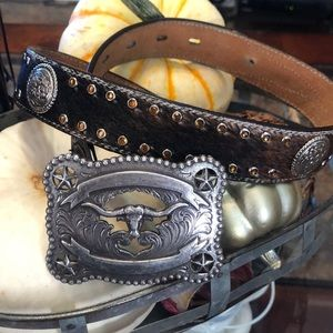 Boys Leather Belt and Buckle